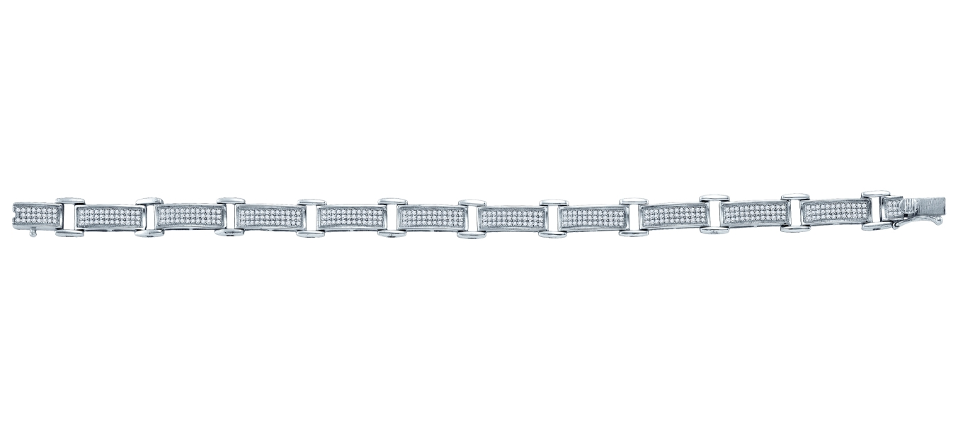 1.18 CT Diamond Pave Bracelet 925 Sterling silver