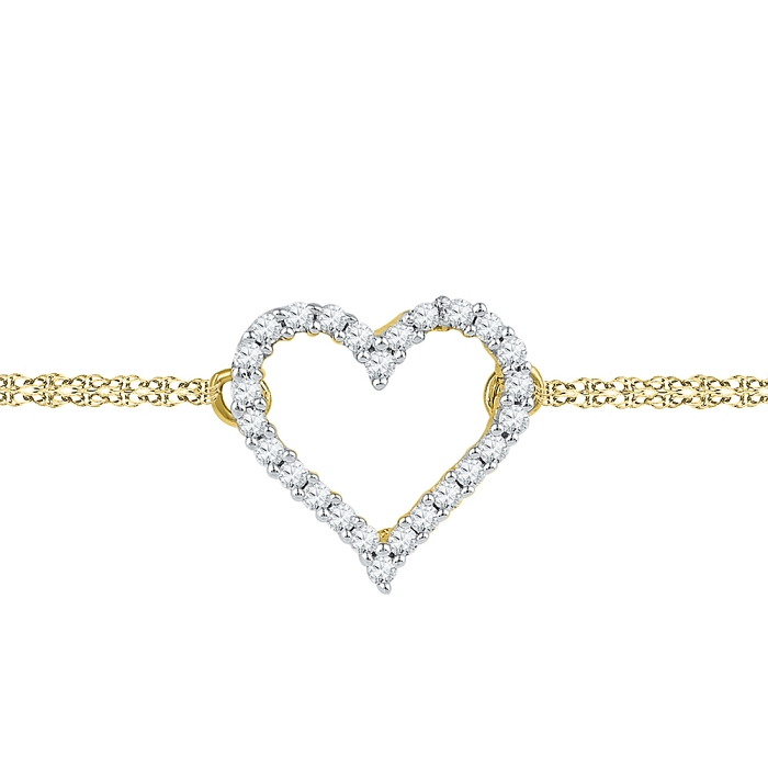 0.12 CT Diamond Bracelet Yellow gold
