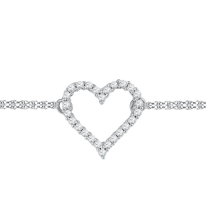 0.12 CT Diamond Bracelet White gold