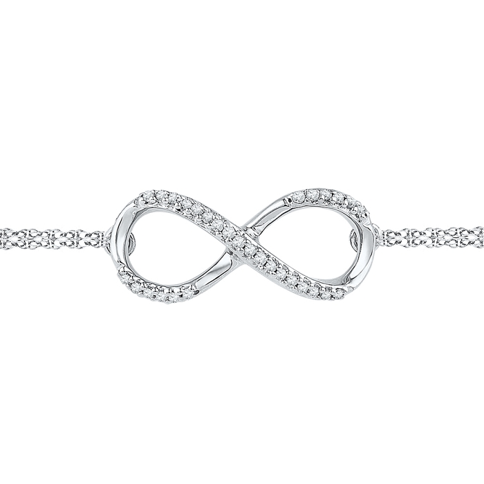 0.10 CT Diamond Bracelet White gold