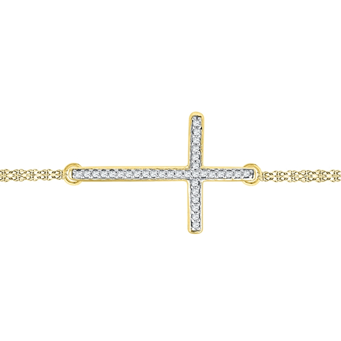 0.10 CT Diamond Bracelet Yellow gold