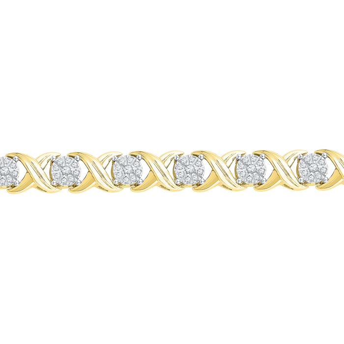 1.02 CT Diamond Bracelet Yellow gold