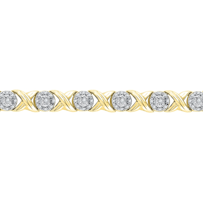 0.60 CT Diamond Bracelet Yellow gold