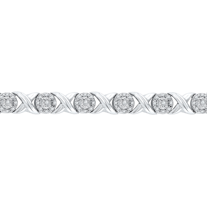 0.60 CT Diamond Bracelet White gold