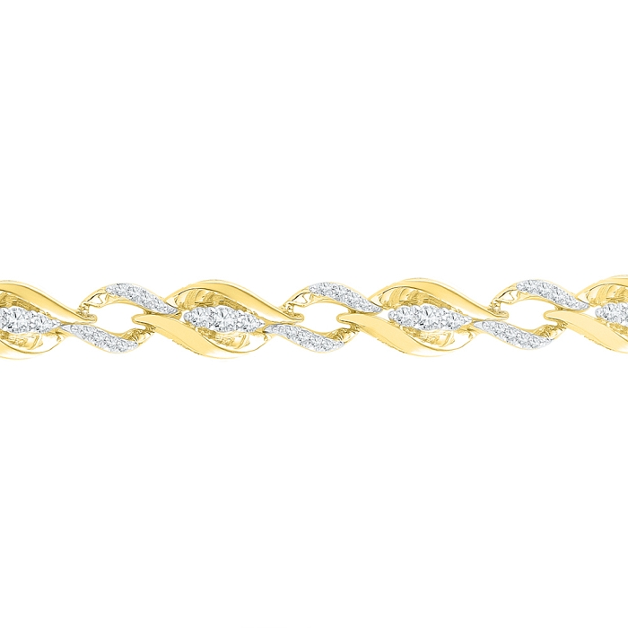 1.00 CT Diamond Bracelet Yellow gold