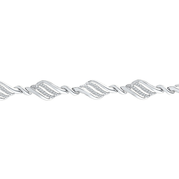 0.50 CT Diamond Bracelet White gold