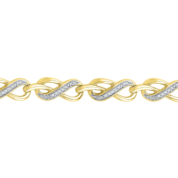 0.20 CT Diamond Bracelet Yellow gold