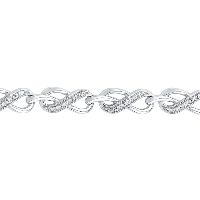 0.20 CT Diamond Bracelet White gold