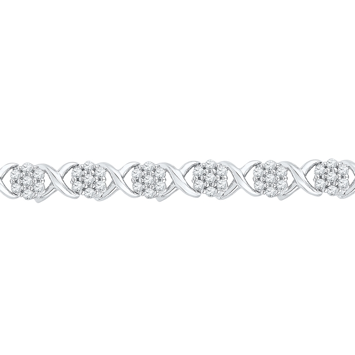 0.25 CT Diamond Bracelet White gold