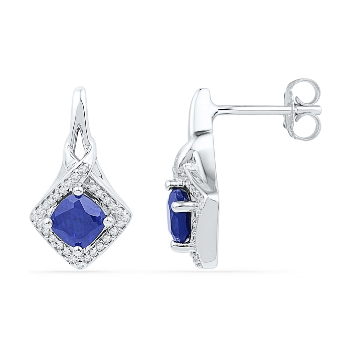 Fine Sapphire Earrings 2.00 CT