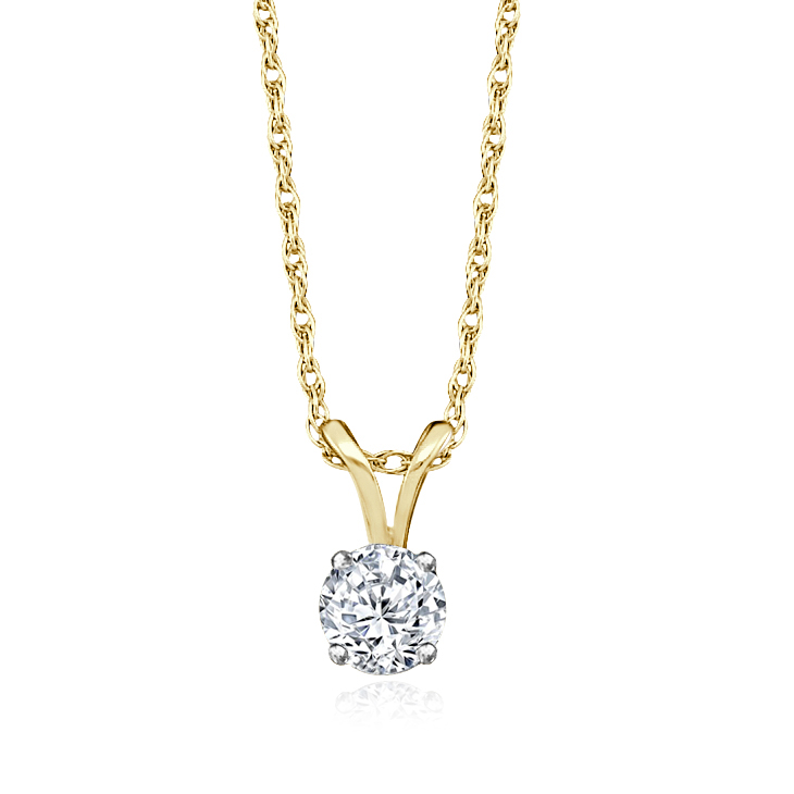 Single Diamond Necklace 1/5CT
