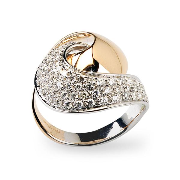 125 CT VSI1 Brilliant Cut Diamond Ring from Italy 18K Gold