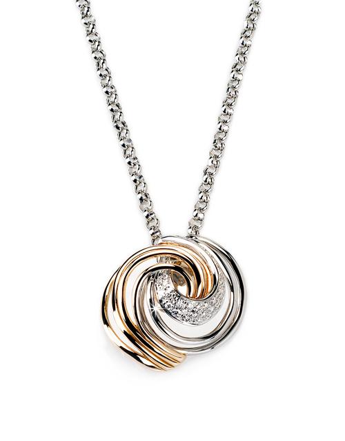 Italian swirl 040 ct diamond necklace with unique design aloadofball Choice Image