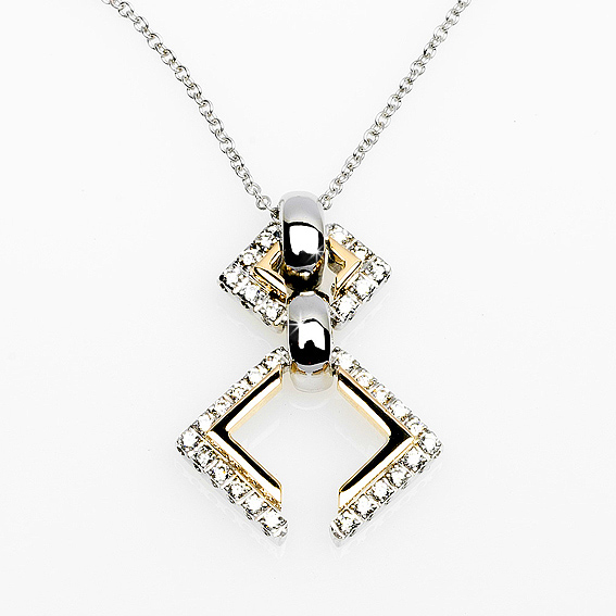 Collezioni 0.25 CT Necklace & Pendant 18K Italian Gold