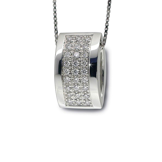 Classy Nut Pendant & Necklace with 0.38 CT Diamond Pave