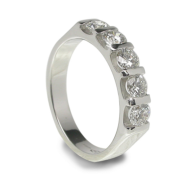 Unique Design 0 35 Ct Diamond Wedding Ring Handmade In Italy