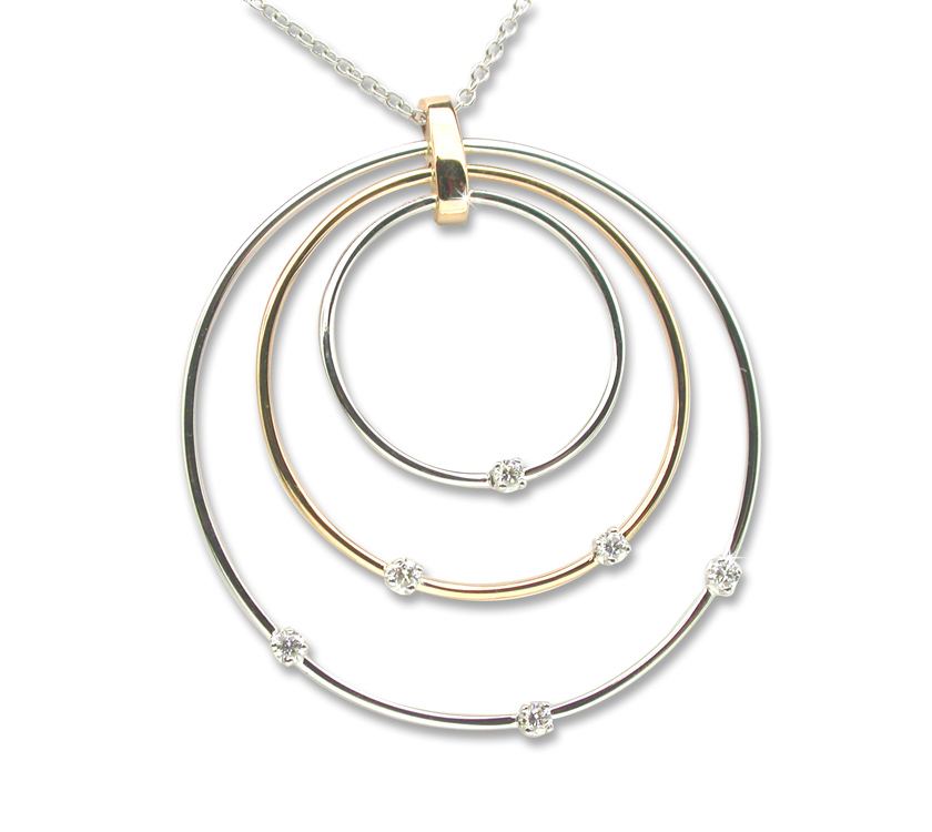 3 Circle Diamond Necklace 1/3 CT Diamonds