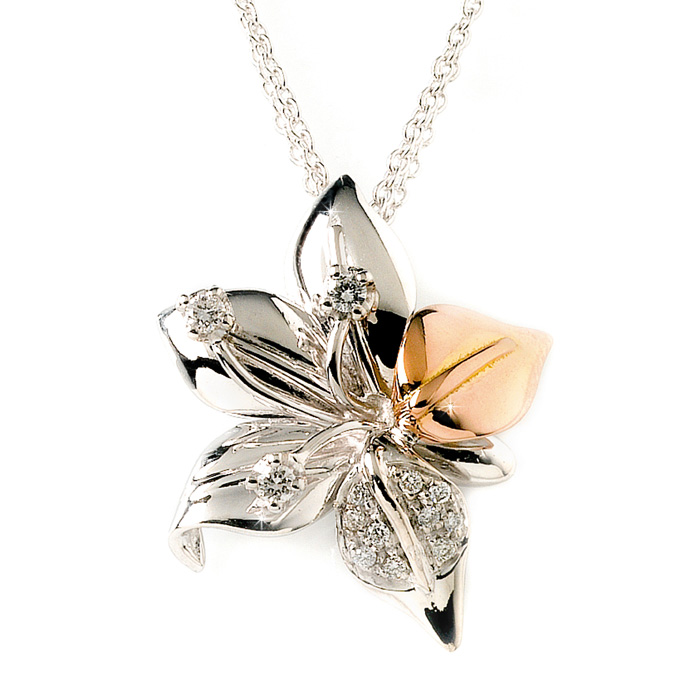 Luxury floral necklace with chain