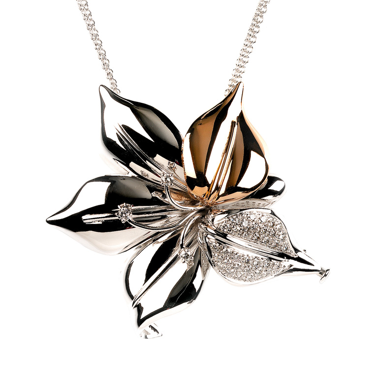 Unique Flower Necklace from Italy