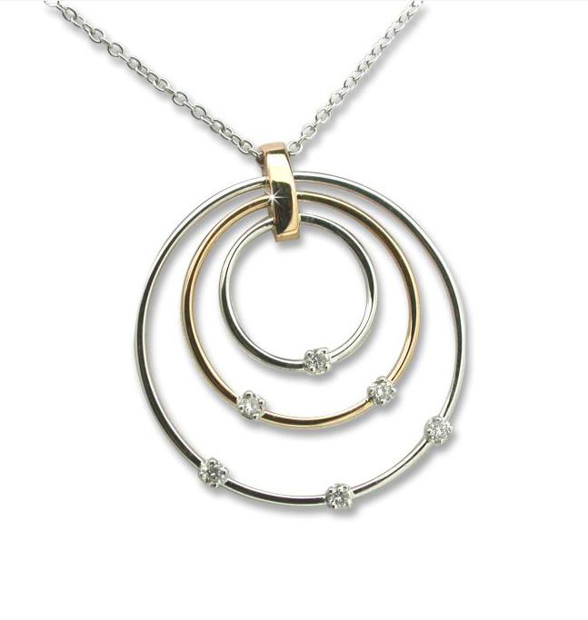 Fancy designer hoop necklace