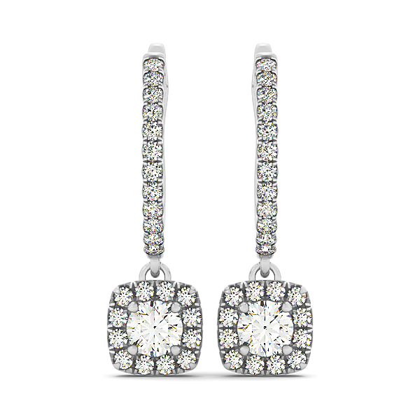 Fine Diamond Dangle Earrings