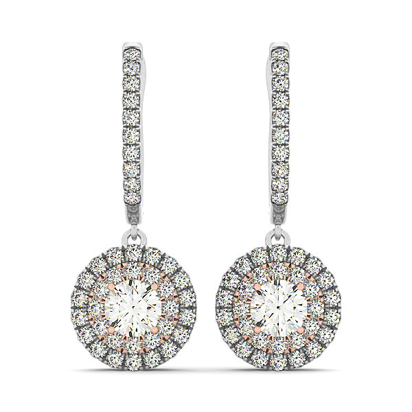 Diamond Drop Earrings Fancy Design