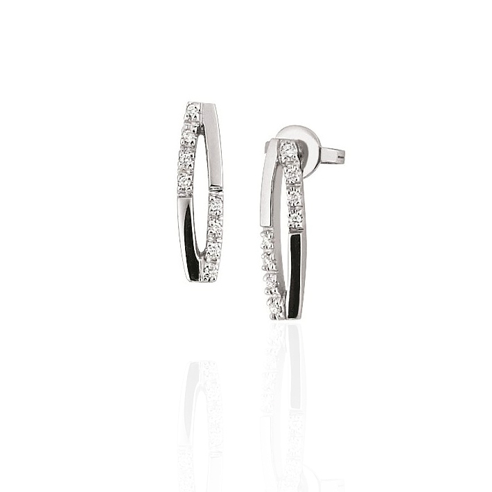 Exclusive Diamond Earrings from Italy