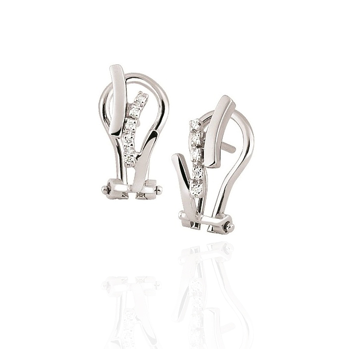 Exclusive Diamond Earrings Designed In Italy