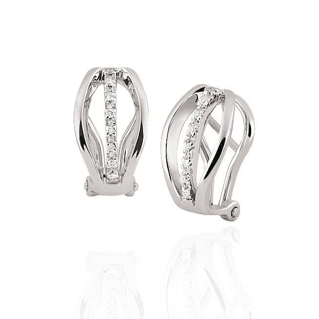 Fine Italian Diamond Earrings