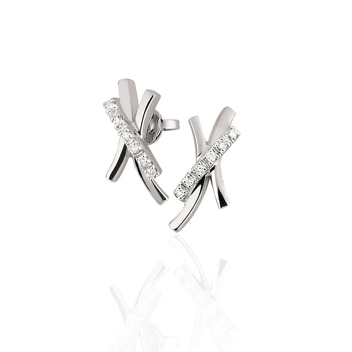 Earrings with 1/10CT Diamonds From Italy