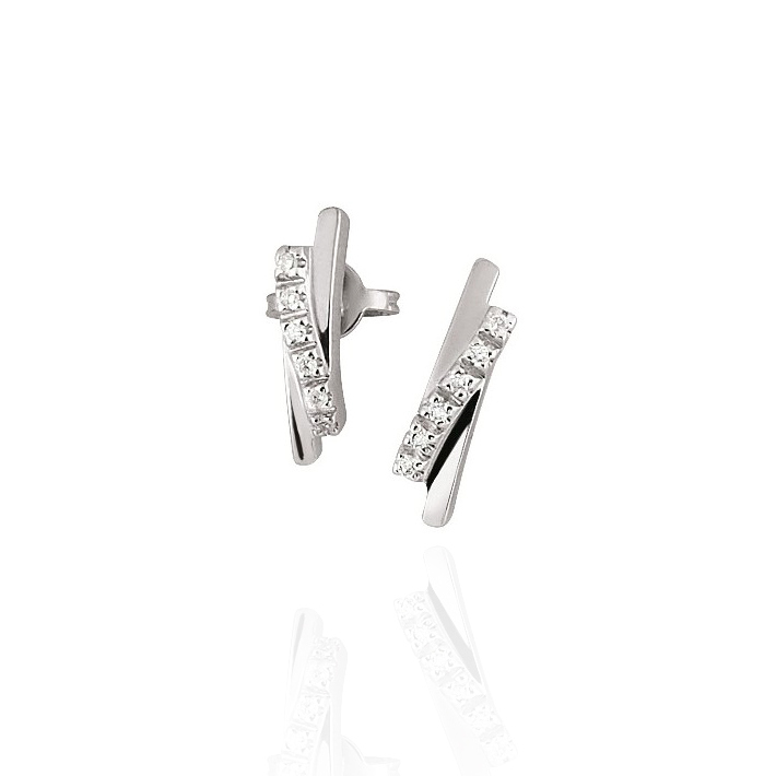 Fancy Diamond Earrings 18K White Gold