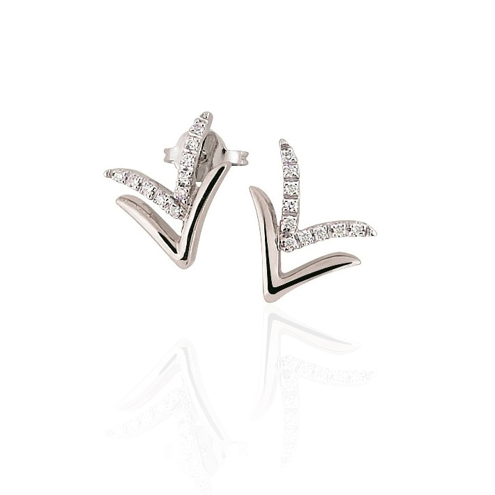 Fine Arrow Diamond Earrings