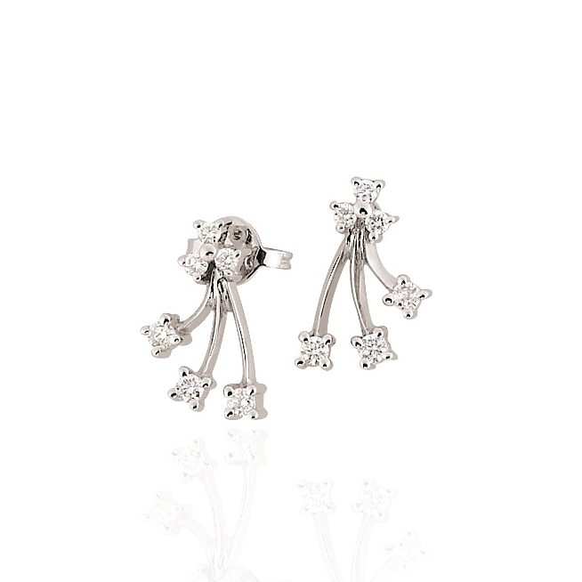 Fancy Bar Italian Diamond Earrings