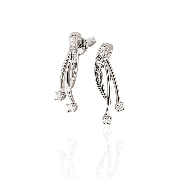 1/5CT Diamond Earrings - Made In Italy