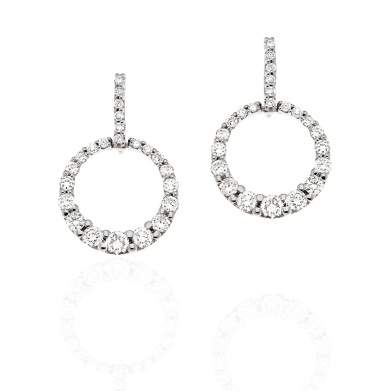 Fine Circle Gold Earrings 1CT