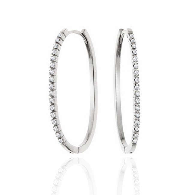 Hoop Diamond Earrings 1/4CT