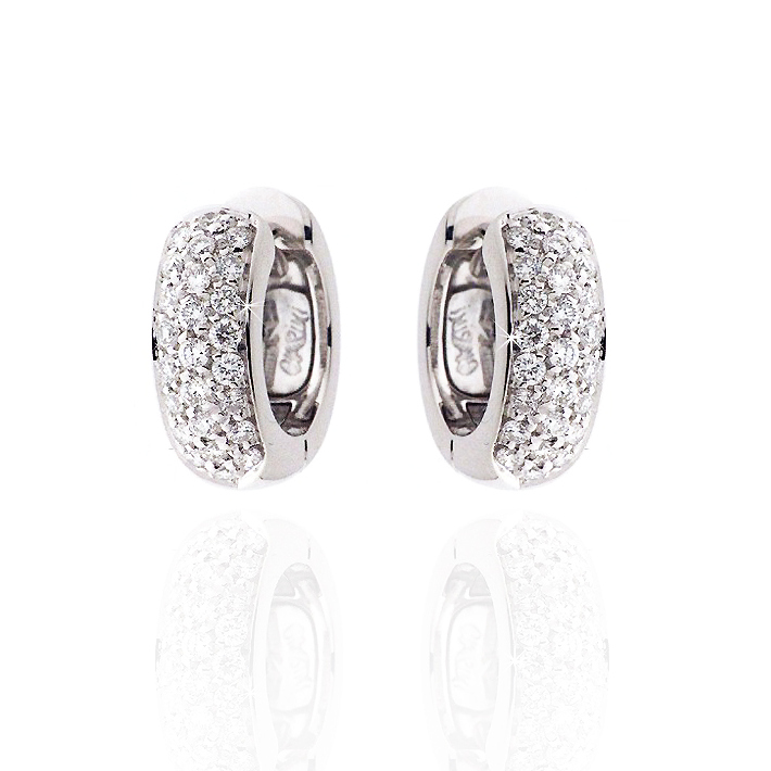Fine Huggie Earrings 1/2CT Diamonds