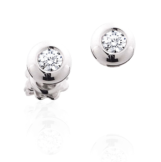 Elegant Stud Earrings 1/5CT Diamonds