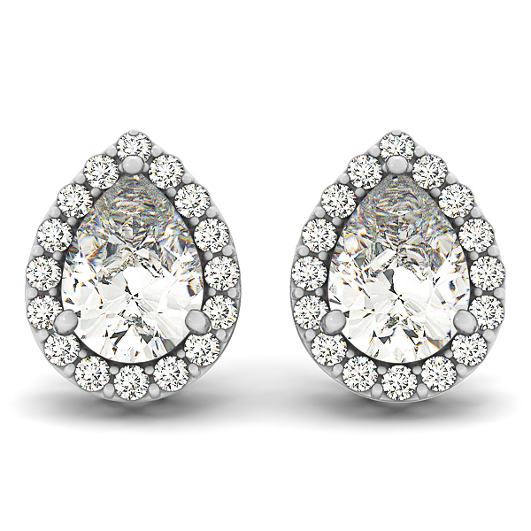 diamond shaped own angle with design in pear stud prong white v jewelry p gold settings your shape earrings setting