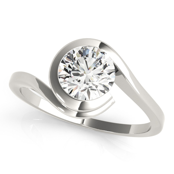 Gorgeous Solitaire Bypass Round Cut Diamond engagement Ring