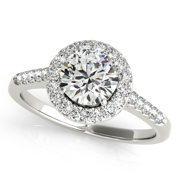 Attractive Classic Round Cut Halo Diamond Engagement Ring