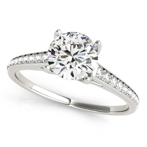 Stone Diamond Engagement Ring UShaped Diamond Scarf