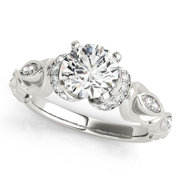 Peculiar Side Stone Accent Stone Diamond Engagement Ring