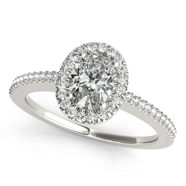 Oval Cut Diamond Engagement Ring with Thin Comfort Fit Shank