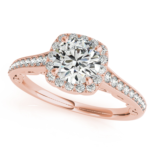 Exclusive Vintage Filigree Diamond Engagement Ring Milgrain Design