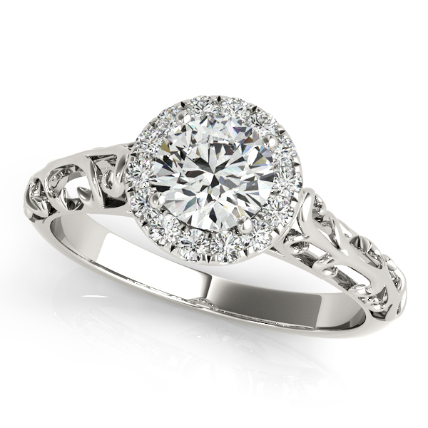 Unique Design Antique Style Diamond Engagement Ring