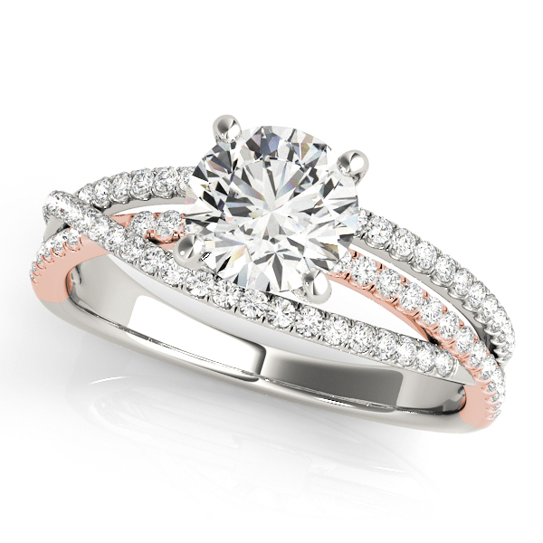unique solitaire side stone diamond engagement ring split shank