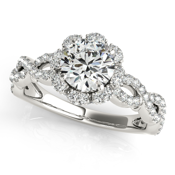 Unprecedented Double Infinity Twist Shank Halo Engagement Ring