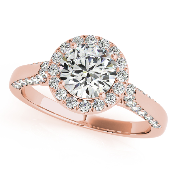 Current Duet Side Stone Halo Diamond Engagement Ring Accents
