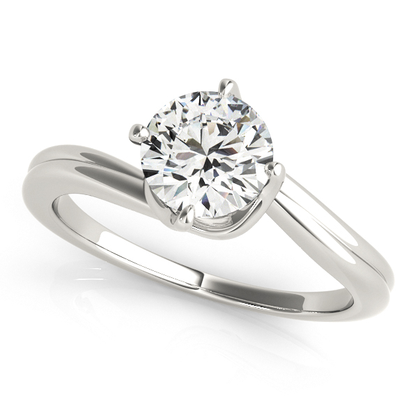 Infinitely Elegant Solitaire Bypass Diamond Engagement Ring